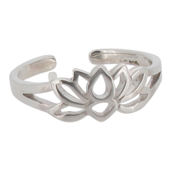 Sterling Silver Lotus Toe Ring
