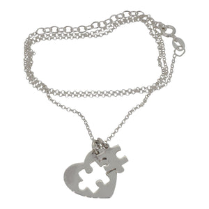 Sterling Silver Jigsaw Pendant and Chain