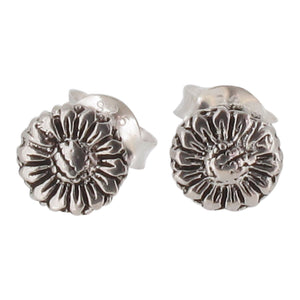 Sterling Silver Tiny Daisy Stud Earrings