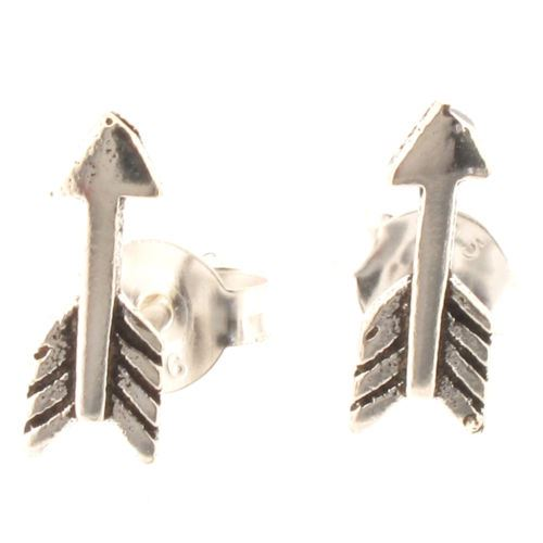 Sterling Silver Arrow Design Stud Earrings