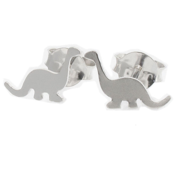 Sterling Silver Dinosaur Design Stud Earrings