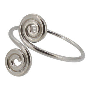 Sterling Silver Coil Design Toe Ring