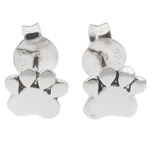 Sterling Silver Paw Design Stud Earring
