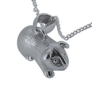 Sterling Silver Guinea Pig Pendant and Chain