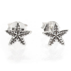 Sterling Silver Starfish Design Stud Earrings