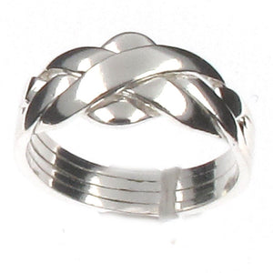 Sterling Silver 4 Band Puzzle Ring