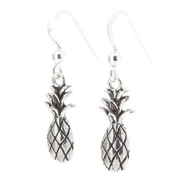 Sterling Silver Pineapple Drop Earrings