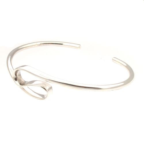 Sterling Silver Symmetrical Double Hoop Harmony Bangle