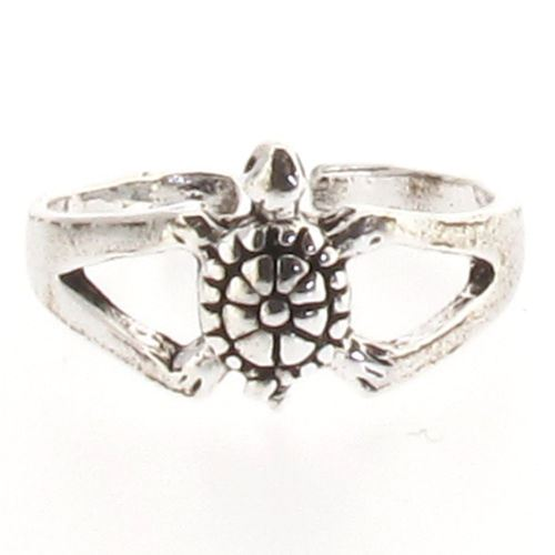 Sterling Silver Turtle Tortoise Design Toe Ring
