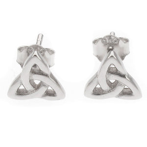 Sterling Silver Triquetra Celtic Knot Design Stud Earrings