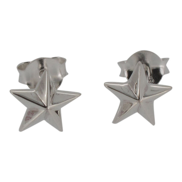 Sterling Silver 5 Point Star Design Stud Earrings