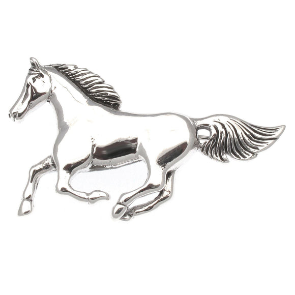 Sterling Silver Running Horse Brooch