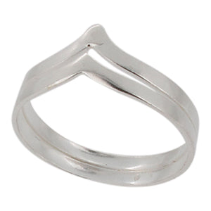 Sterling silver chevron ring - Touch Jewellery
