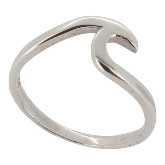 Sterling silver wave ring - Touch Jewellery
