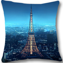 Load image into Gallery viewer, Paris Eiffel Tower Pillow Cover 18x18