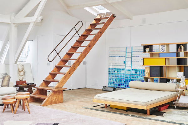 Verlan Showroom Charlotte Perriand Stools Daybed Le Corbusier Stairs Pierre Jeanneret 81 rue Saint Maur 75011 Paris