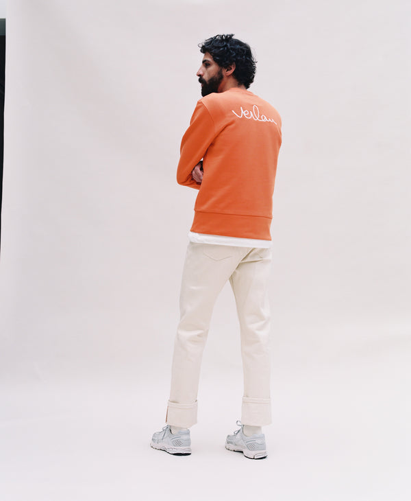 ORANGE SWEATSHIRT - BACK BRANDING-Verlan