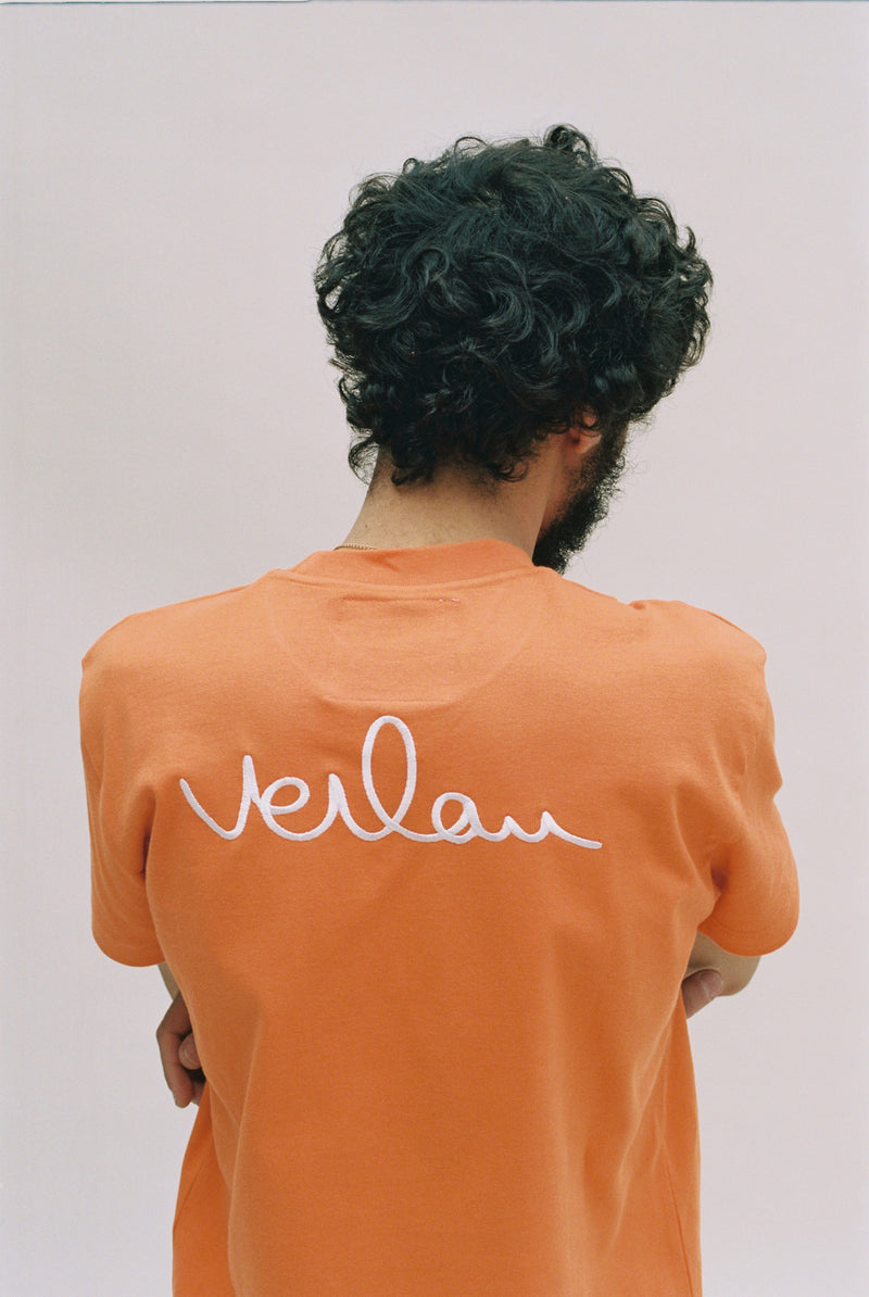 ORANGE T-SHIRT - BACK BRANDING-Verlan