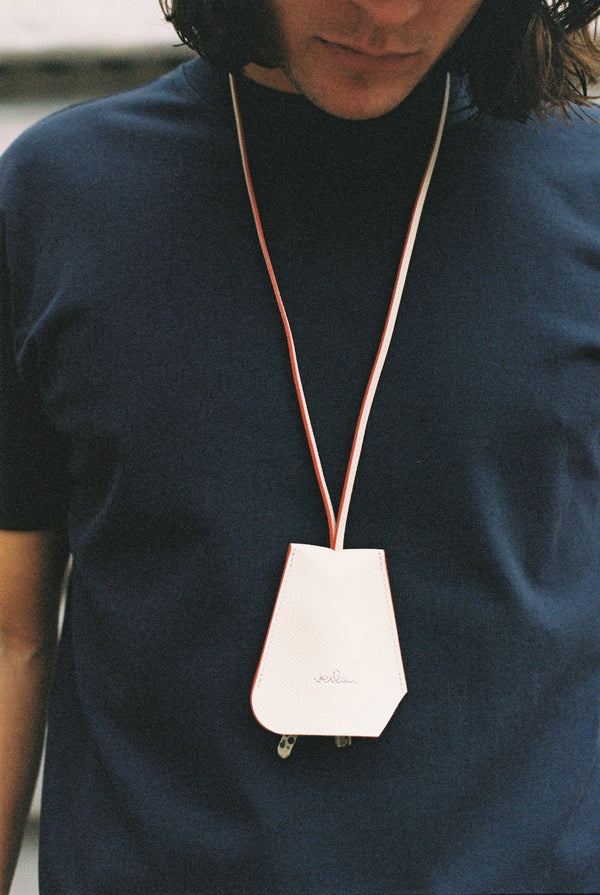 OFF-WHITE LEATHER BELL KEY-HOLDER