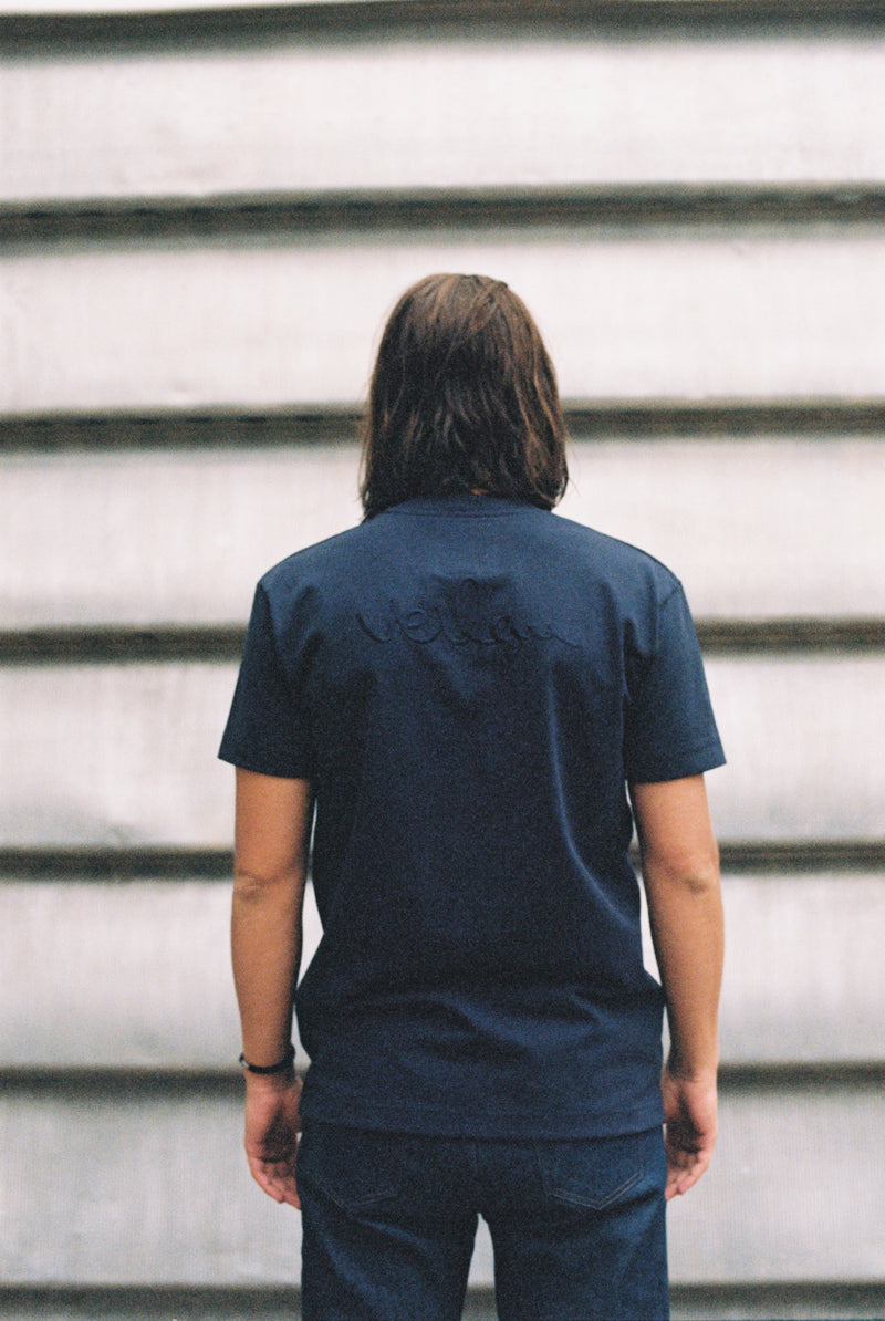 NAVY T-SHIRT - BACK BRANDING