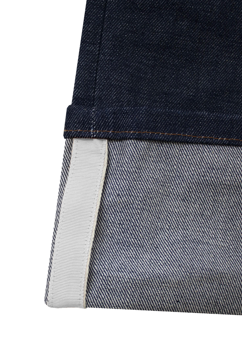 RAW BLUE DENIM - OFF-WHITE GROSGRAIN