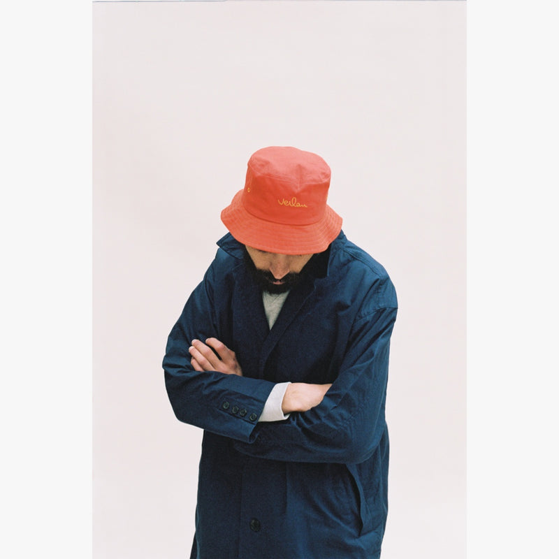 ORANGE LOGO BUCKET HAT-Verlan