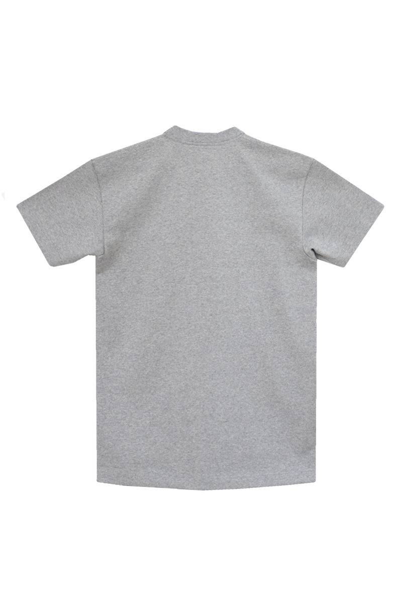 GREY T-SHIRT - ORANGE GROSGRAIN