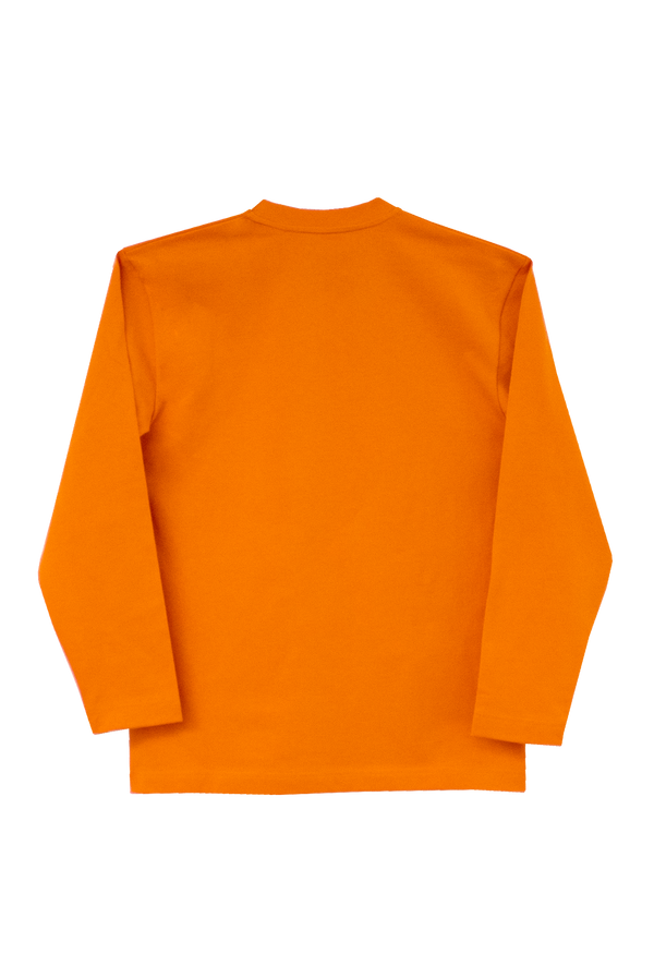 ORANGE LONG SLEEVE T-SHIRT - SLEEVE BRANDING