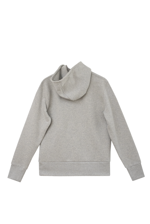 GREY HOODIE - ORANGE GROSGRAIN