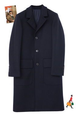 NAVY LODEN WITH ENGLISH GREEN GROSGRAIN