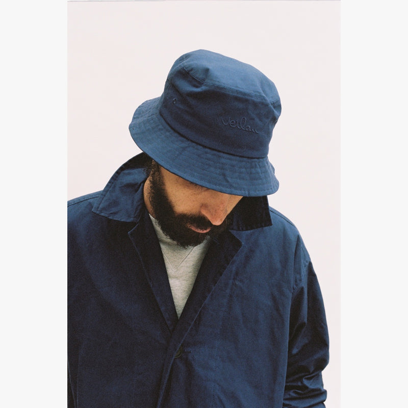 NAVY LOGO BUCKET HAT-Verlan