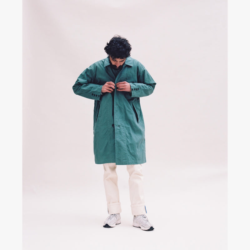 GREEN RAINCOAT - ROYAL BLUE GROSGRAIN-Verlan