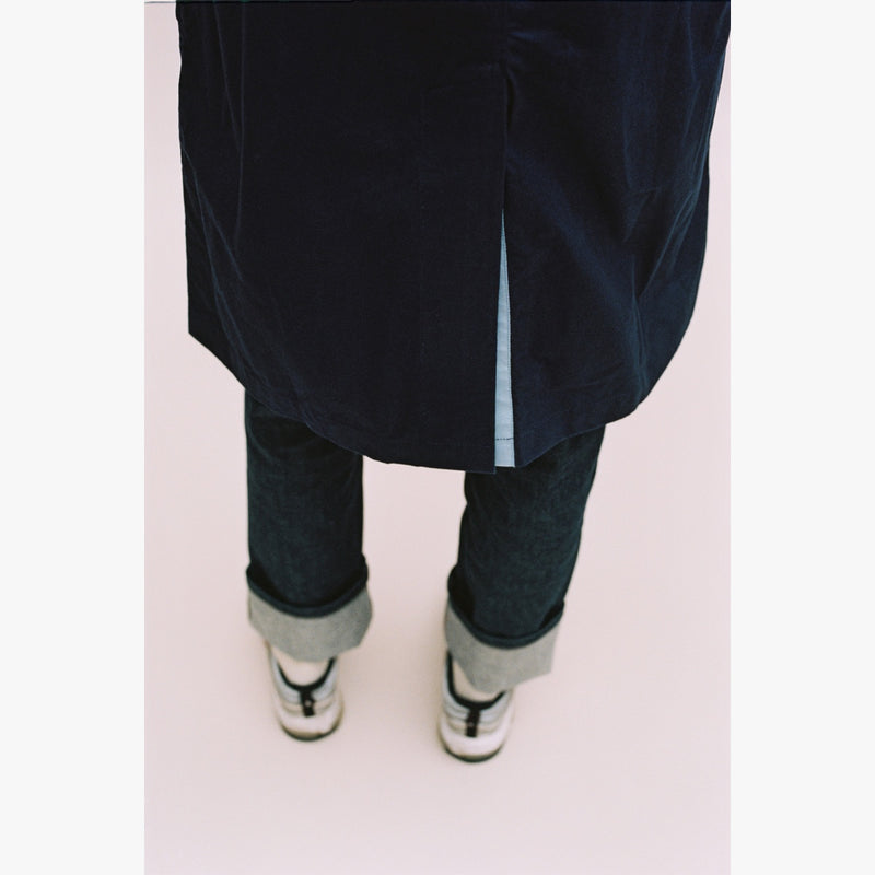 NAVY RAINCOAT - LIGHT BLUE GROSGRAIN-Verlan