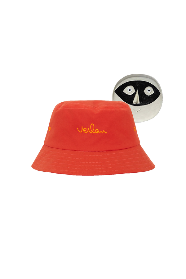 ORANGE LOGO BUCKET HAT