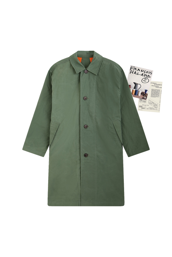 GREEN RAINCOAT - ROYAL BLUE GROSGRAIN
