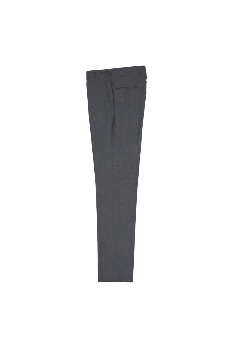 Grey Suit Trouser - Orange Grosgrain