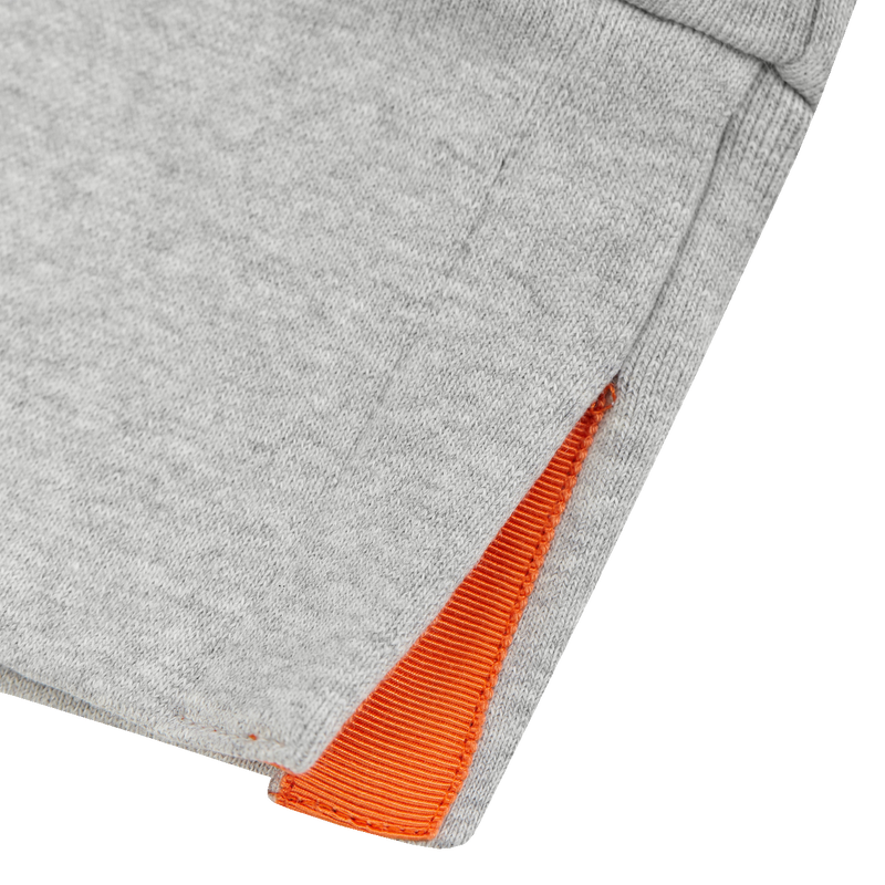 GREY SWEATSHIRT - ORANGE GROSGRAIN