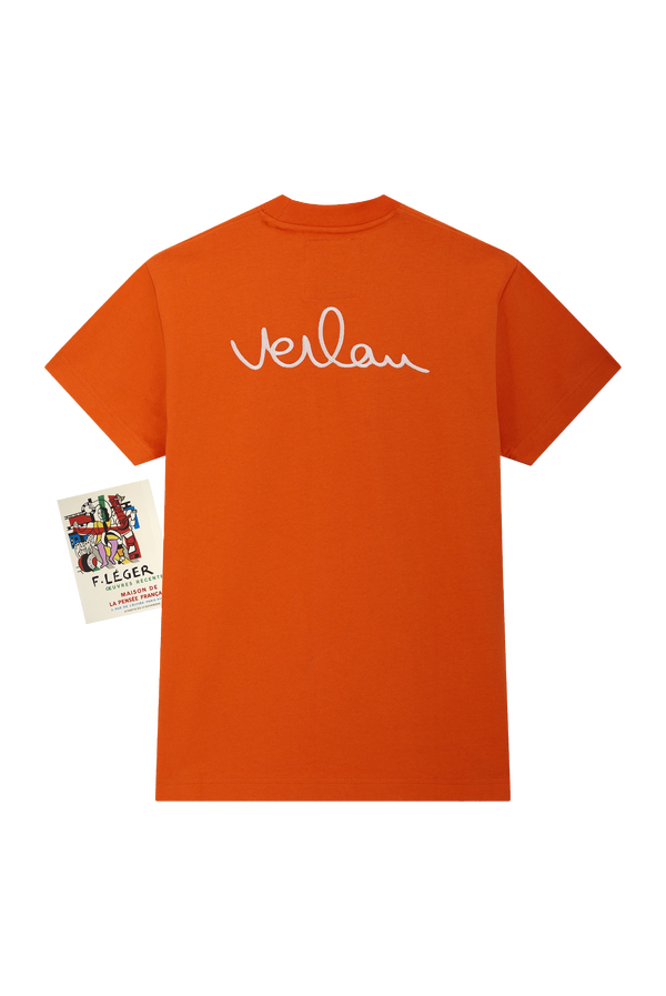 ORANGE T-SHIRT - BACK BRANDING