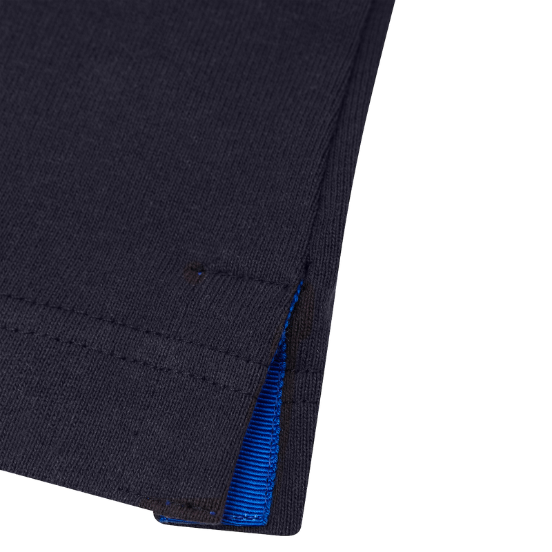 NAVY T-SHIRT - ROYAL BLUE GROSGRAIN