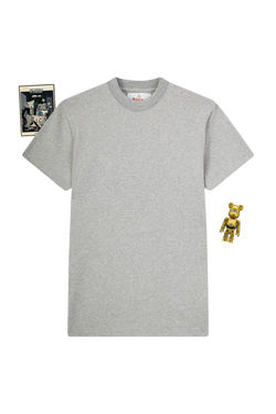 GREY T-SHIRT - GREY GROSGRAIN