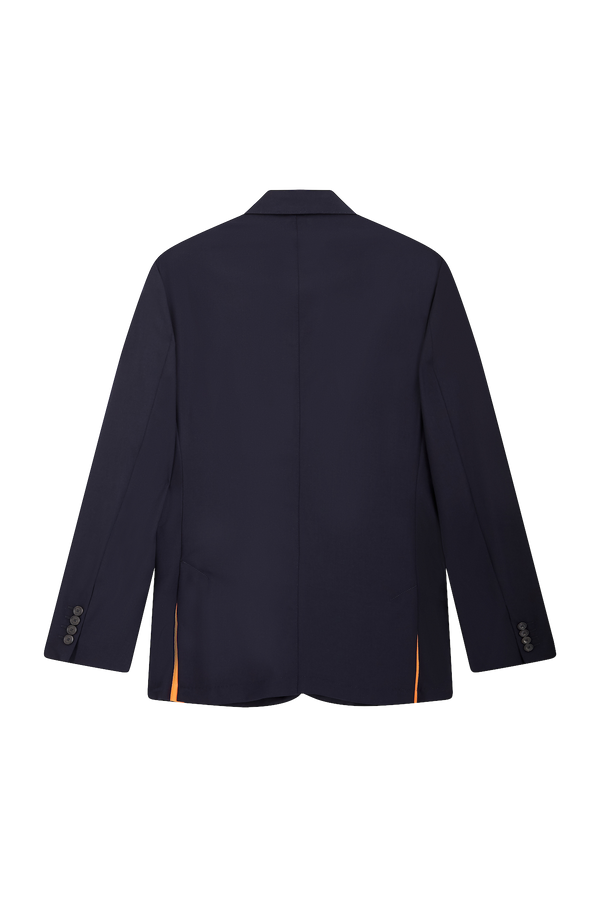 Navy Suit Jacket - Orange Grosgrain
