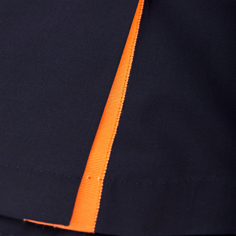 Navy Suit Jacket - Orange Grosgrain-Verlan