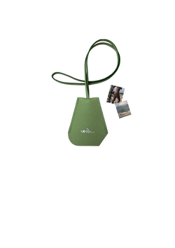 SMALL GREEN LEATHER BELL KEY-HOLDER