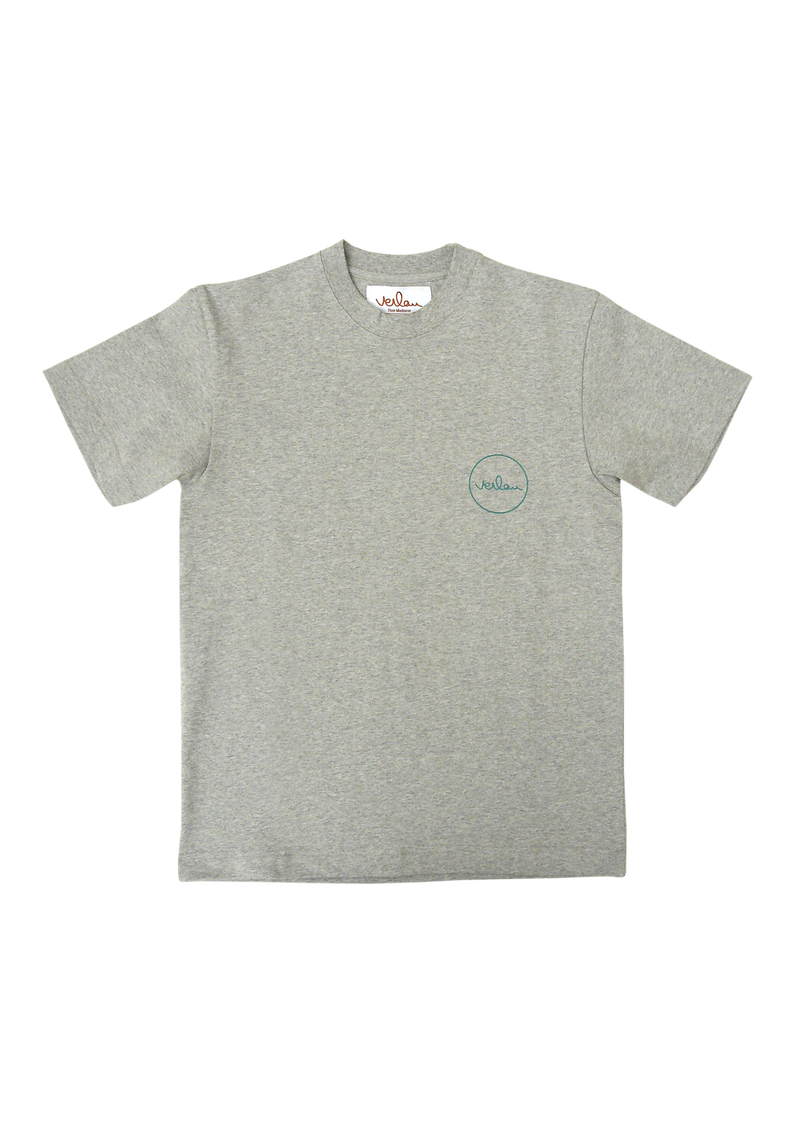 GREY T-SHIRT - FRONT AND BACK BRANDING