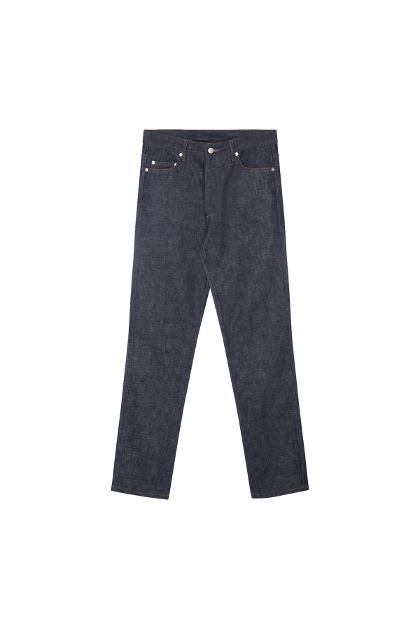 RAW BLUE DENIM - ORANGE GROSGRAIN