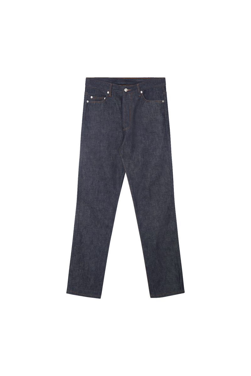 RAW BLUE DENIM - YELLOW GROSGRAIN