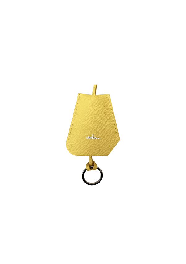 SMALL YELLOW LEATHER BELL KEY-HOLDER