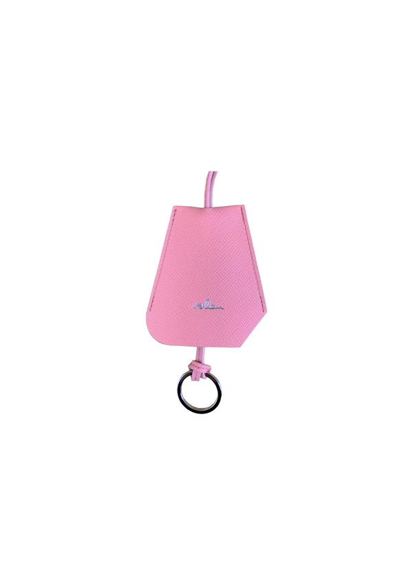 SMALL PINK LEATHER BELL KEY-HOLDER