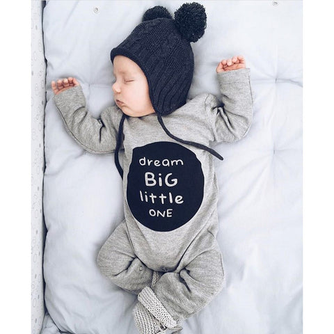 2018 hot sale Newborn Infant Baby Boy Girl Long Sleeve Letter Romper Jumpsuit Clothes Outfits Comfortable and warm 3-18 month 35