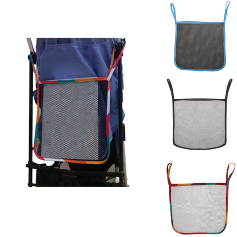 Baby Infant Cart Pram Stroller Accessories Mesh Side Hanging Bag Pushchair Storage Net Bag Organizer Kids Toys Bottle